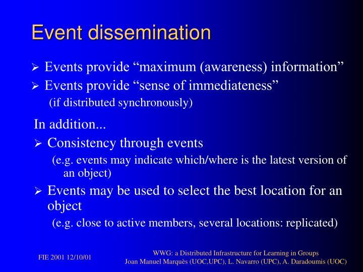 Event dissemination