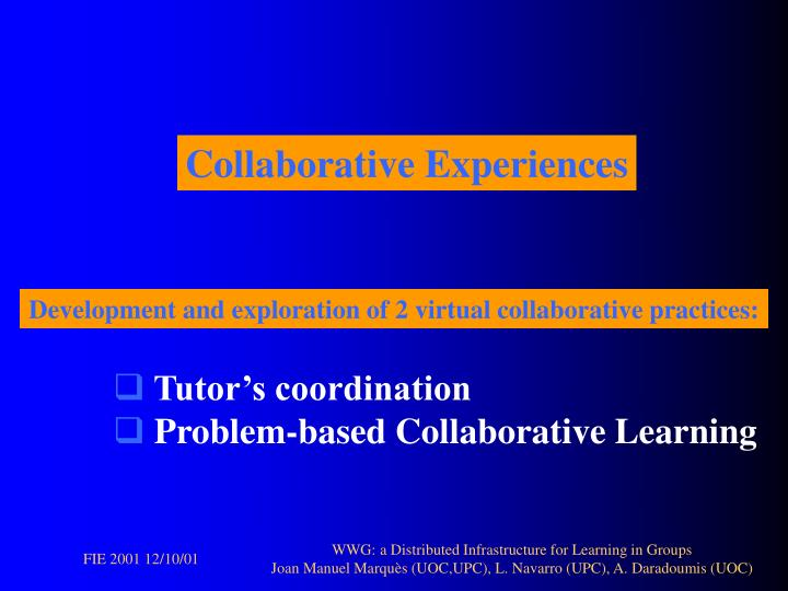 Collaborative Experiences