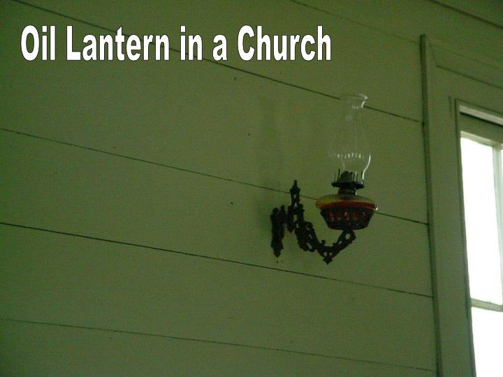 Oil Lantern in a Church