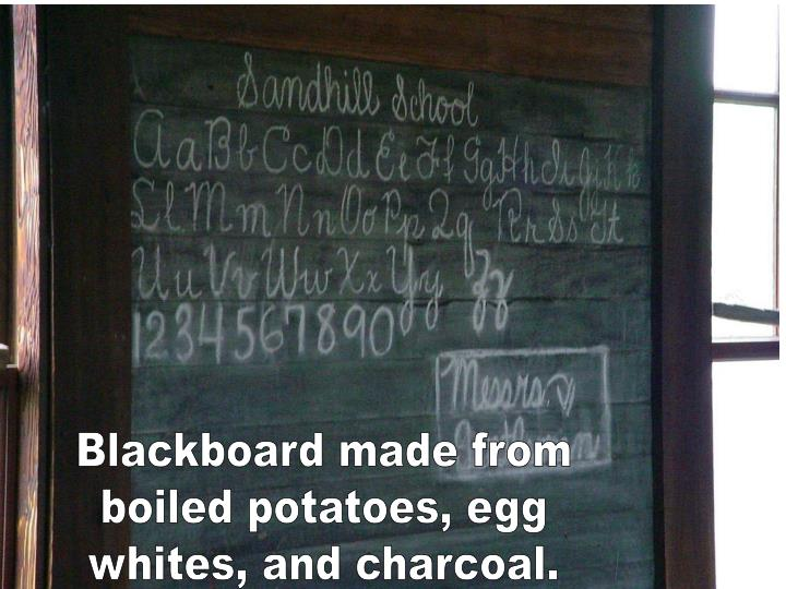 Blackboard made from