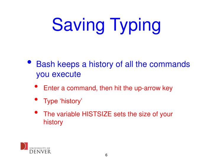 Saving Typing