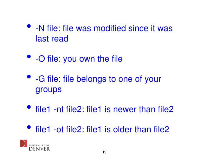 -N file: file was modified since it was last read