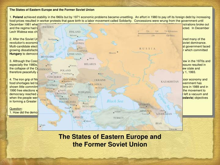 The States of Eastern Europe and the Former Soviet Union