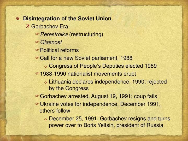Disintegration of the Soviet Union