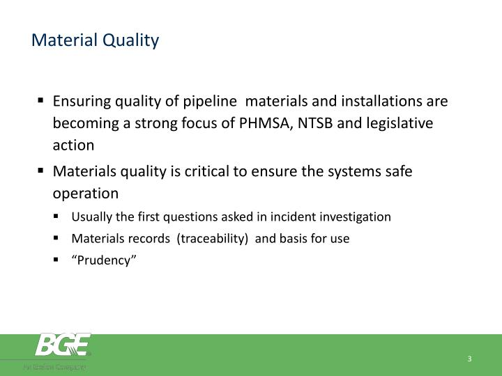 Material Quality