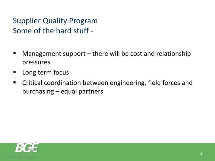 Supplier Quality Program