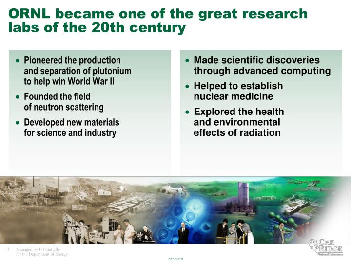 Ornl became one of the great research labs of the 20th century