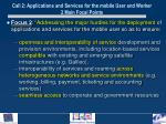 call 2 applications and services for the mobile user and worker 2 main focal points1