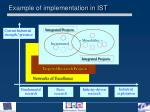 example of implementation in ist