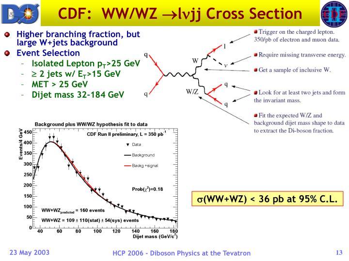 CDF:  WW/WZ