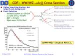 cdf ww wz l jj cross section