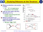 studying dibosons at the tevatron1