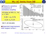 w ac limits from d