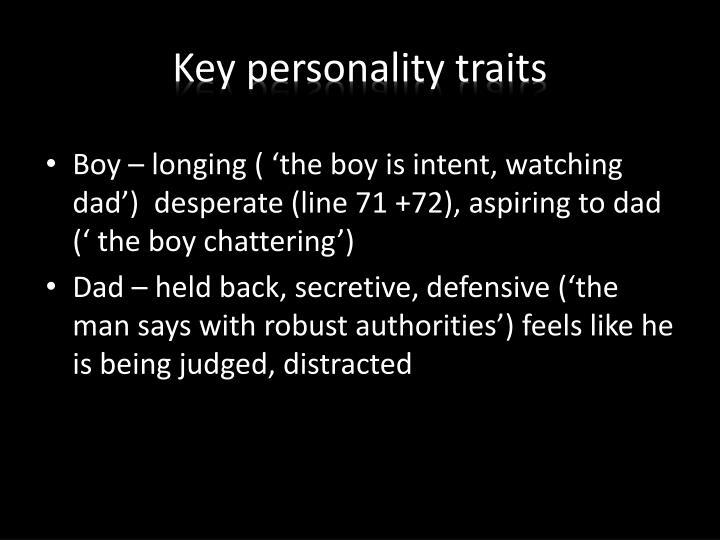 Key personality traits