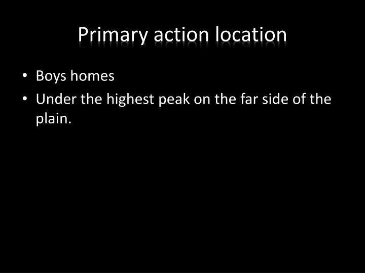 Primary action location