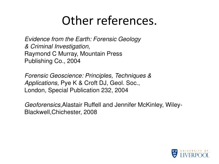 Other references.