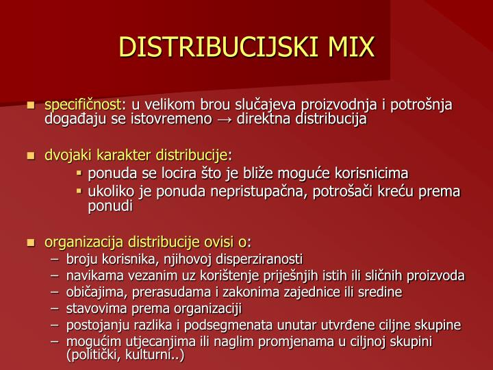 DISTRIBUCIJSKI MIX