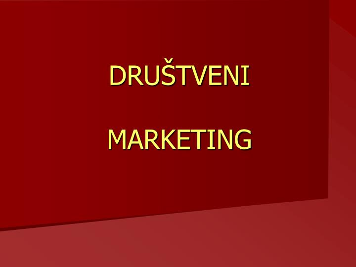 Dru tveni marketing