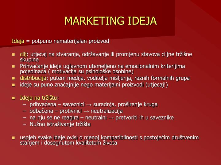 MARKETING IDEJA