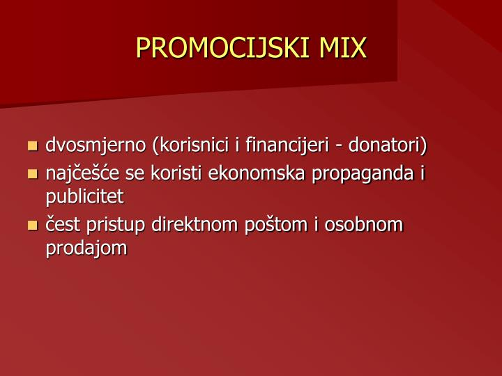 PROMOCIJSKI MIX