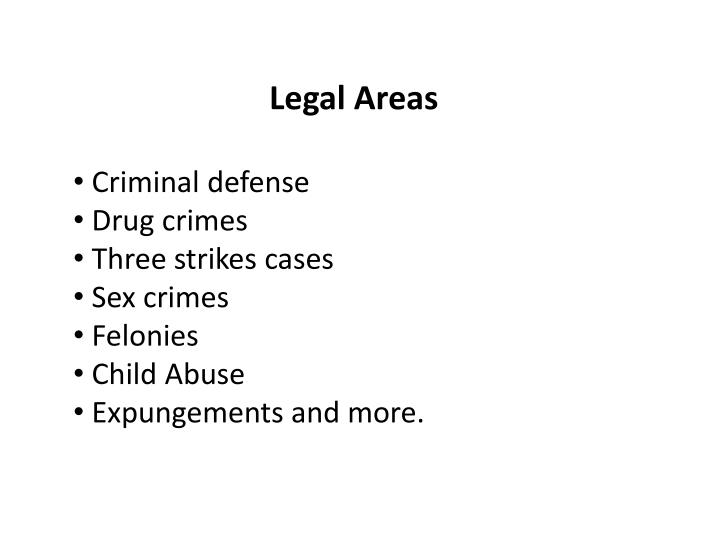 Legal Areas