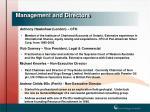 management and directors1