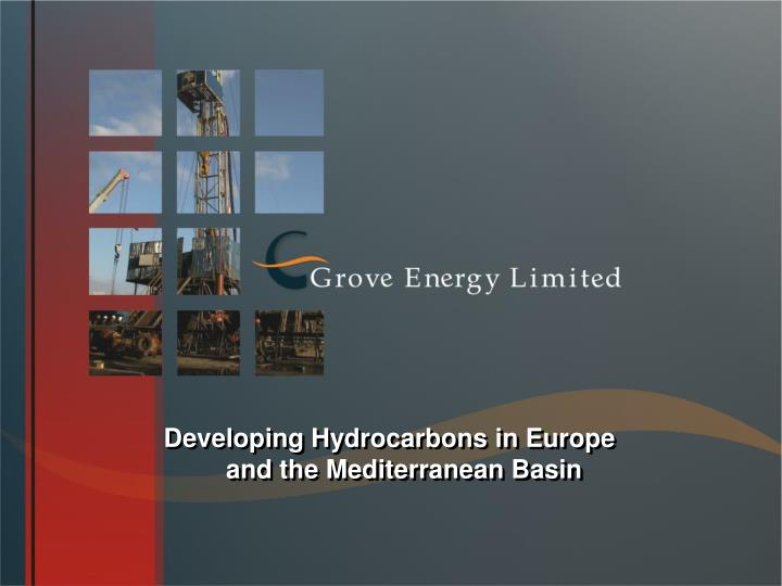 Developing Hydrocarbons in Europe