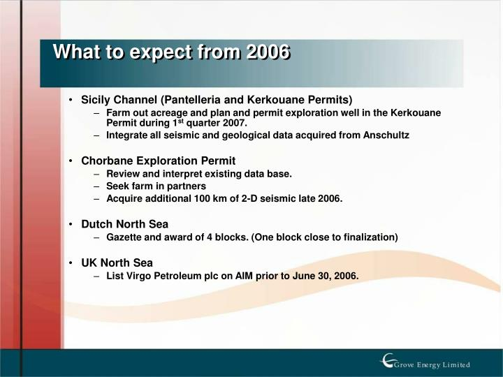 What to expect from 2006