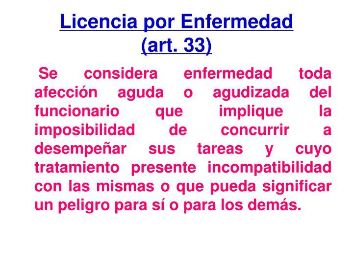 Licencia por Enfermedad