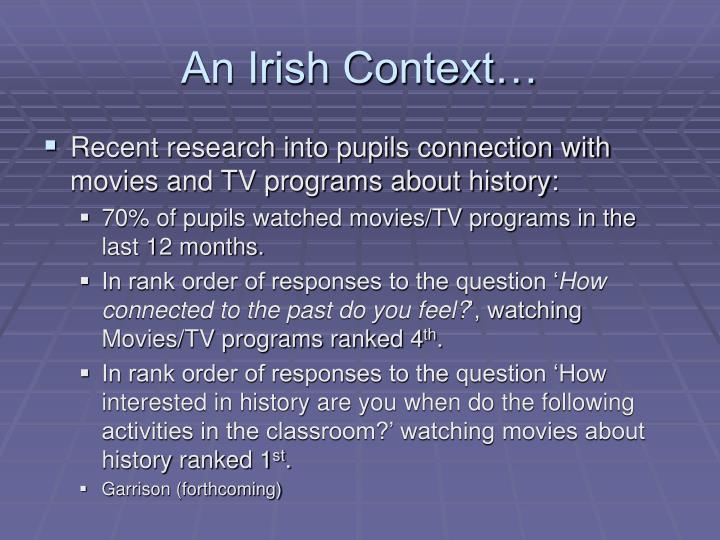 An Irish Context…