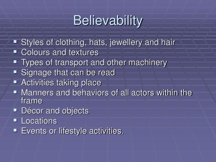 Believability