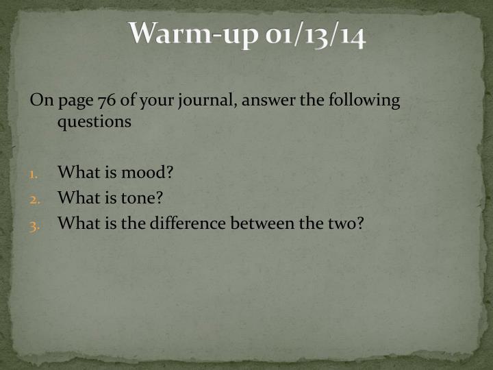 Warm-up 01/13/14
