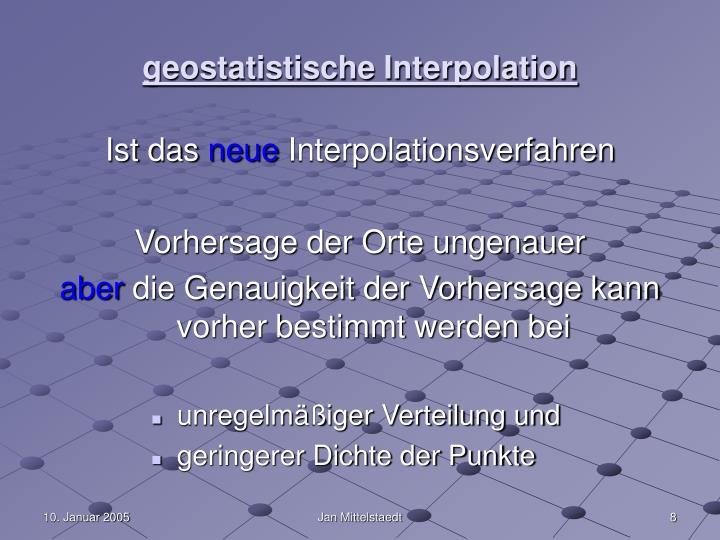 geostatistische Interpolation