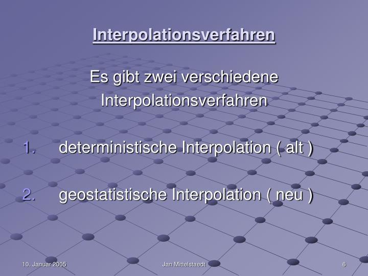 Interpolationsverfahren