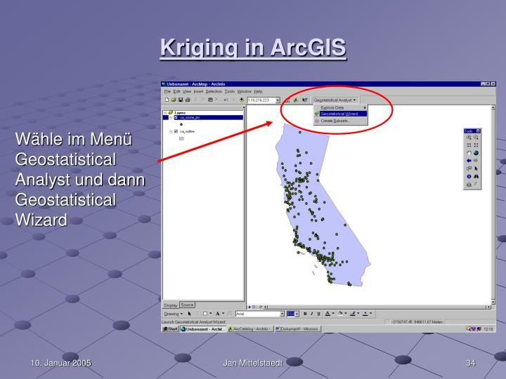 Kriging in ArcGIS