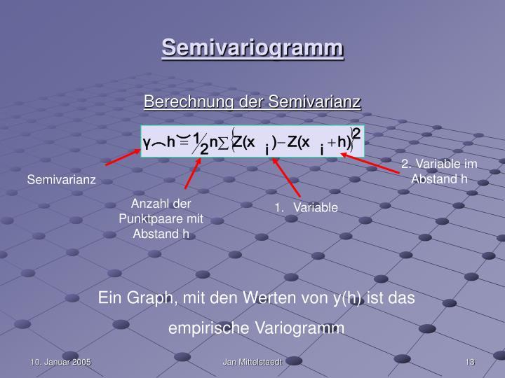 Semivariogramm
