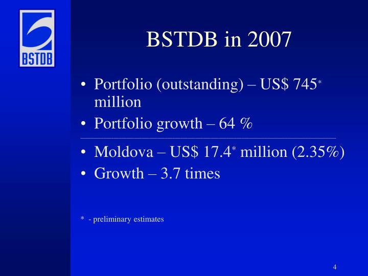 BSTDB in 2007