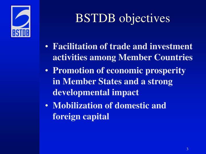 BSTDB objectives