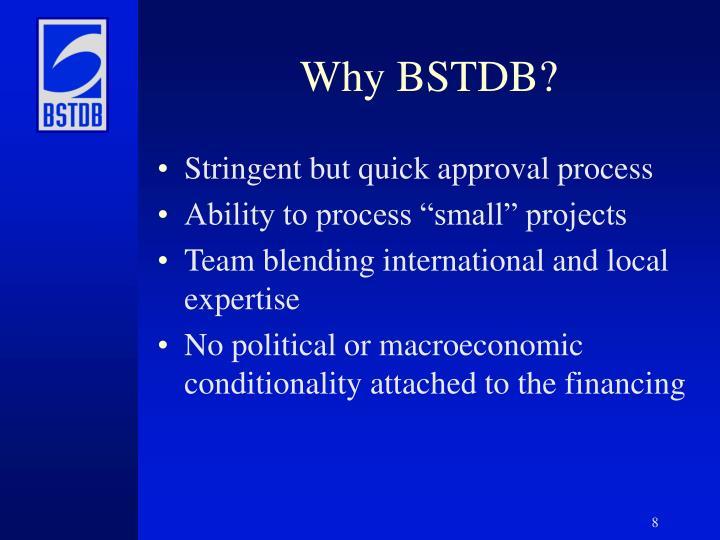 Why BSTDB?