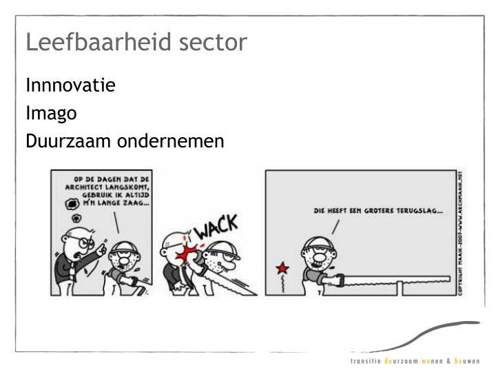 Leefbaarheid sector