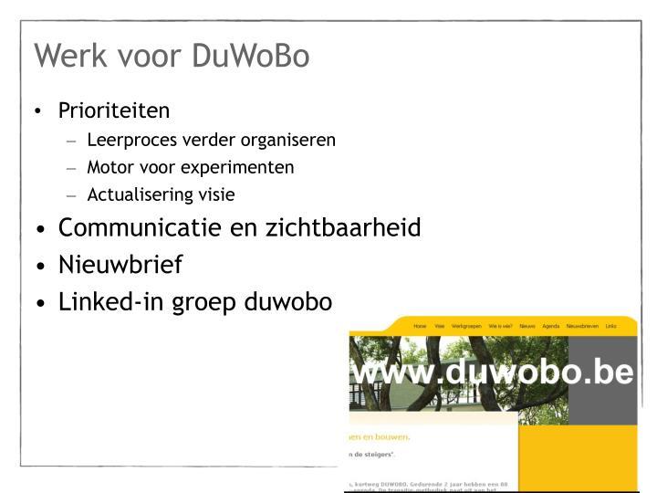 Werk voor DuWoBo