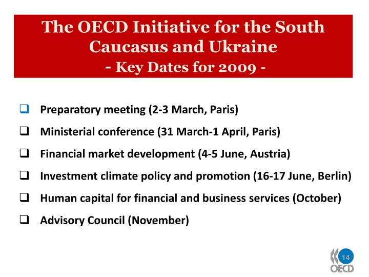 The OECD Initiative for the South Caucasus and Ukraine