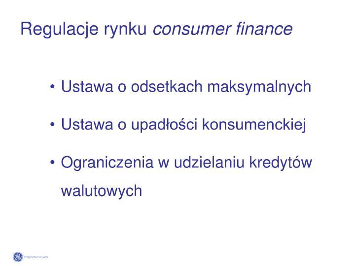 Regulacje rynku