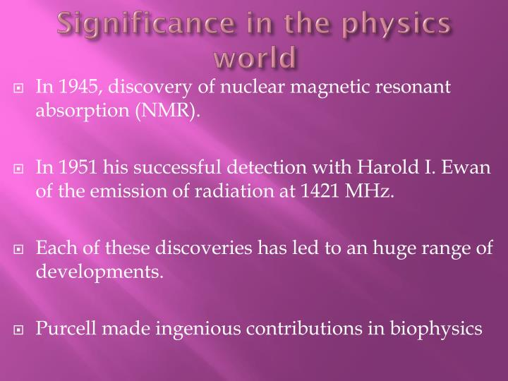 Significance in the physics world