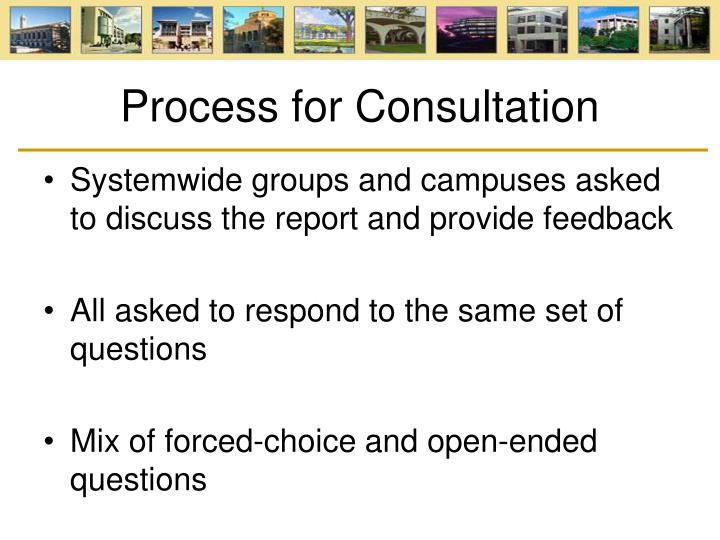 Process for Consultation