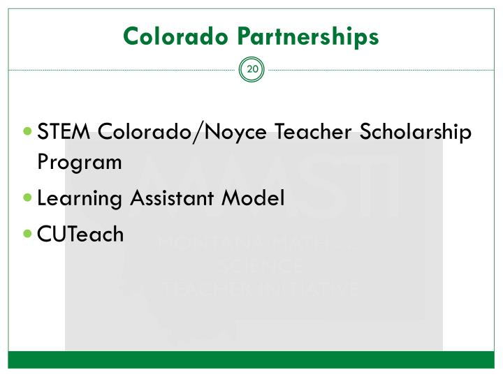 Colorado Partnerships