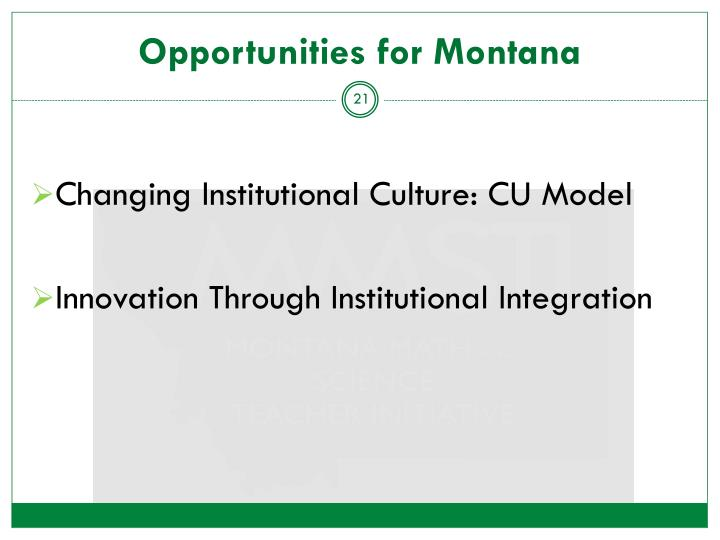 Opportunities for Montana