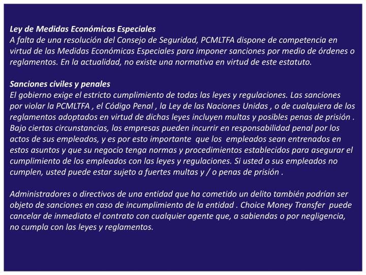 Ley de Medidas Económicas Especiales