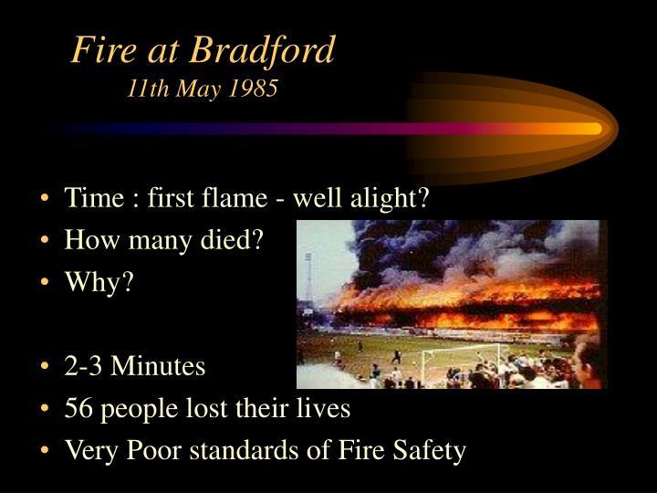 Fire at Bradford