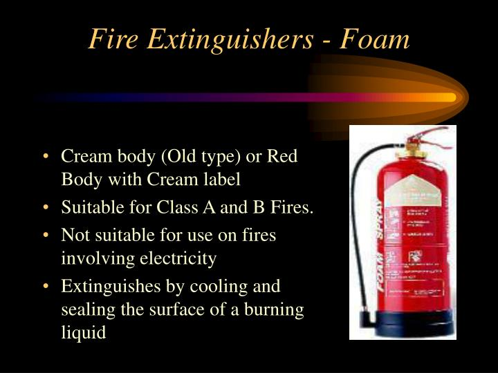 Fire Extinguishers - Foam